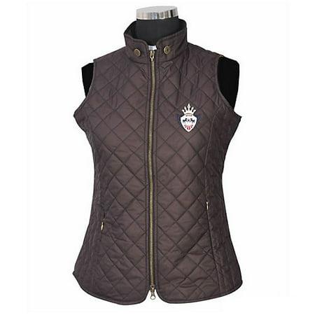 Equine Couture Ladies Denisson Vest 3X Chocolate