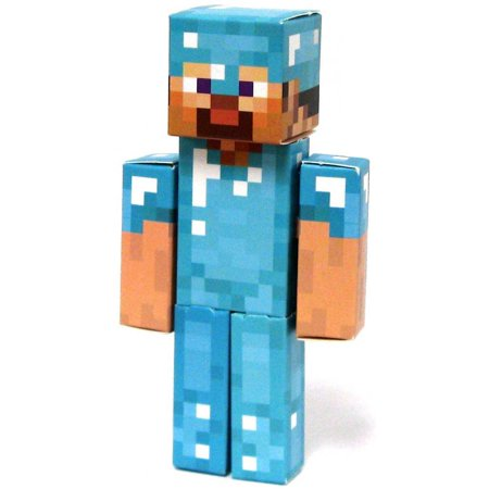 minecraft diamond steve papercraft single piece - Minecraft Papercraft Diamond