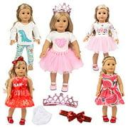 American Girl Doll Unicorn 18 Inch Doll Clothes and Accessories,american girl doll accessories Outfit Set american girl doll clothes Our Generation Doll Clothes My Life Doll Clothes Baby Journey Girls