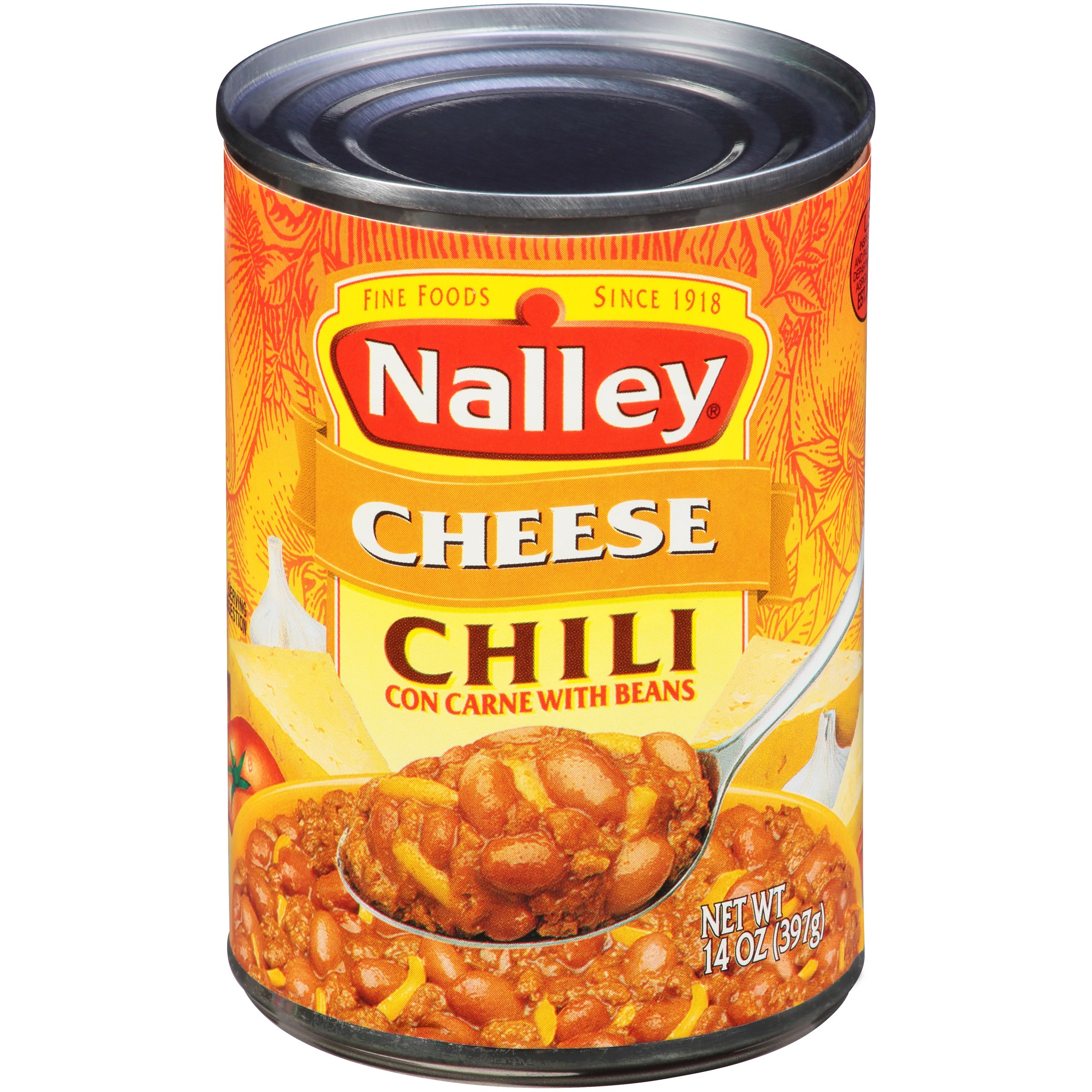 (6 Pack) Nalley Cheddar Cheese Chili Con Carne With Beans, 15 Oz