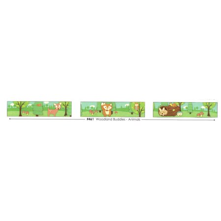 Woodland Buddies - Animals Edible Frosting Photo Cake Border Decoration - Decoration Border