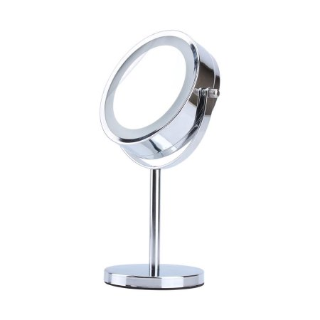 Estink Round Cosmetic LED Light Makeup Mirror, 5x Magnifying Lighted Double-Sided Vanity... by Nobrand