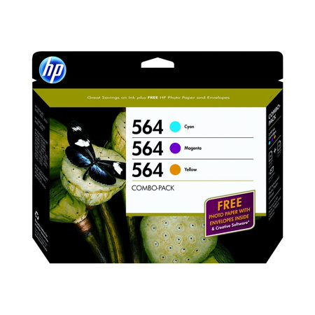 HP 564 - 3-pack - yellow, cyan, magenta - original - ink cartridge - for Deskjet 35XX; Photosmart 5522, 55XX B111, 7510 C311, 75XX, Premium C310, Premium Fax C410 ()