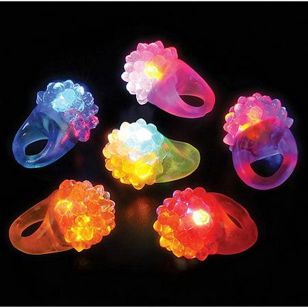 Rhode Island Novelty Flashing LED Bumpy Ring, 24-Pack - Led Ring