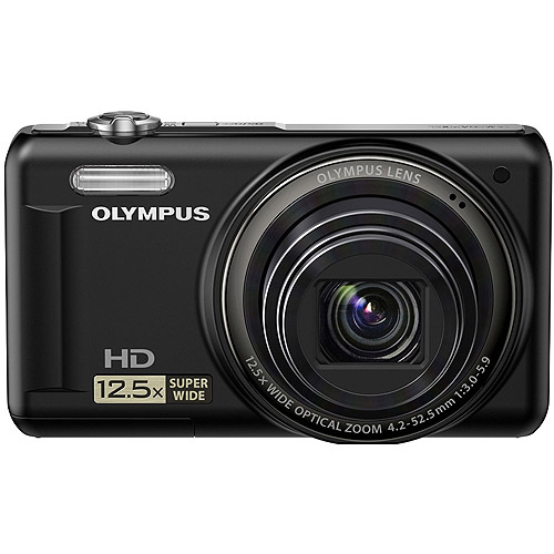 """Olympus VR-320BK 14 MP Digital Camera with 12.5x Optical Zoom and 3"""" LCD, Black"""