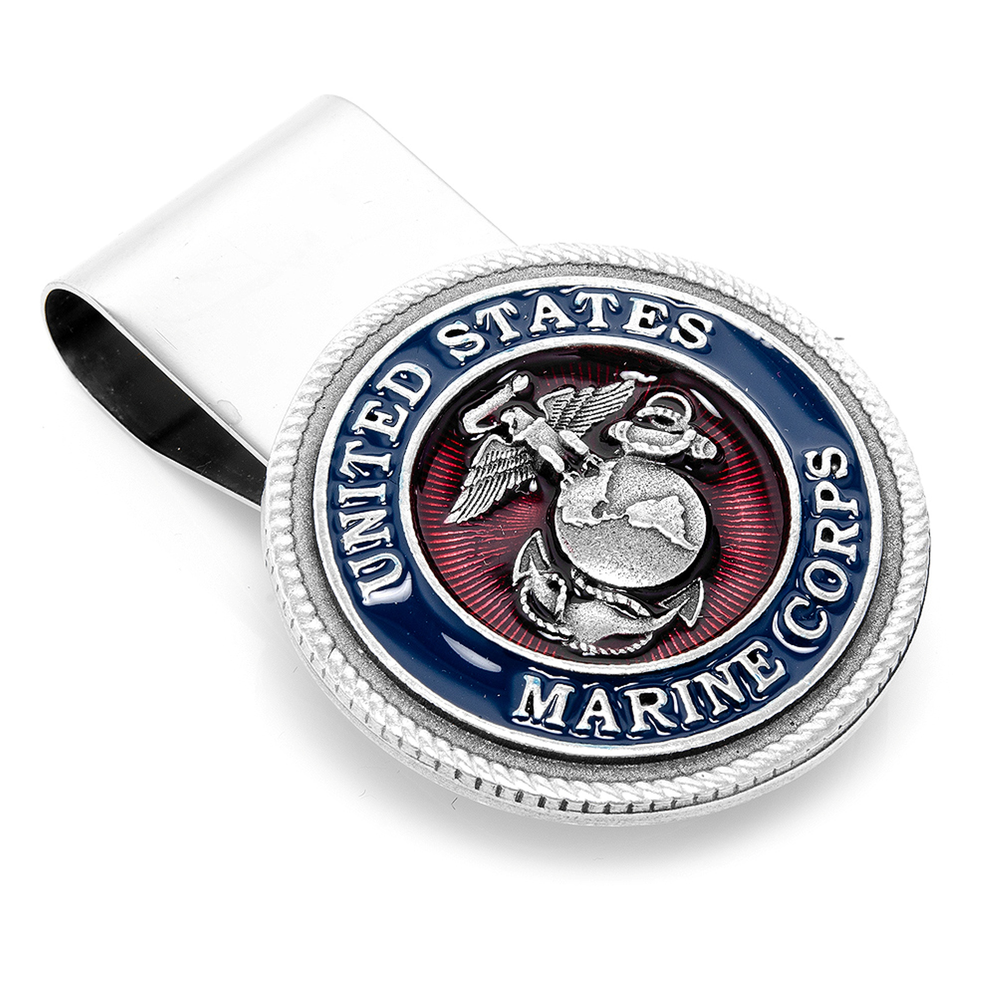 Men's Cufflinks Inc Enamel Marine Corp Money Clip