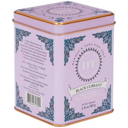 Harney & Sons, Black Currant, Black Tea with Black Currant Flavor, 20 Ct Black Currant Flavored Tea