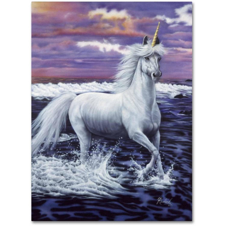 Trademark Fine Art 'Unicorn' Canvas Art by Jenny Newland