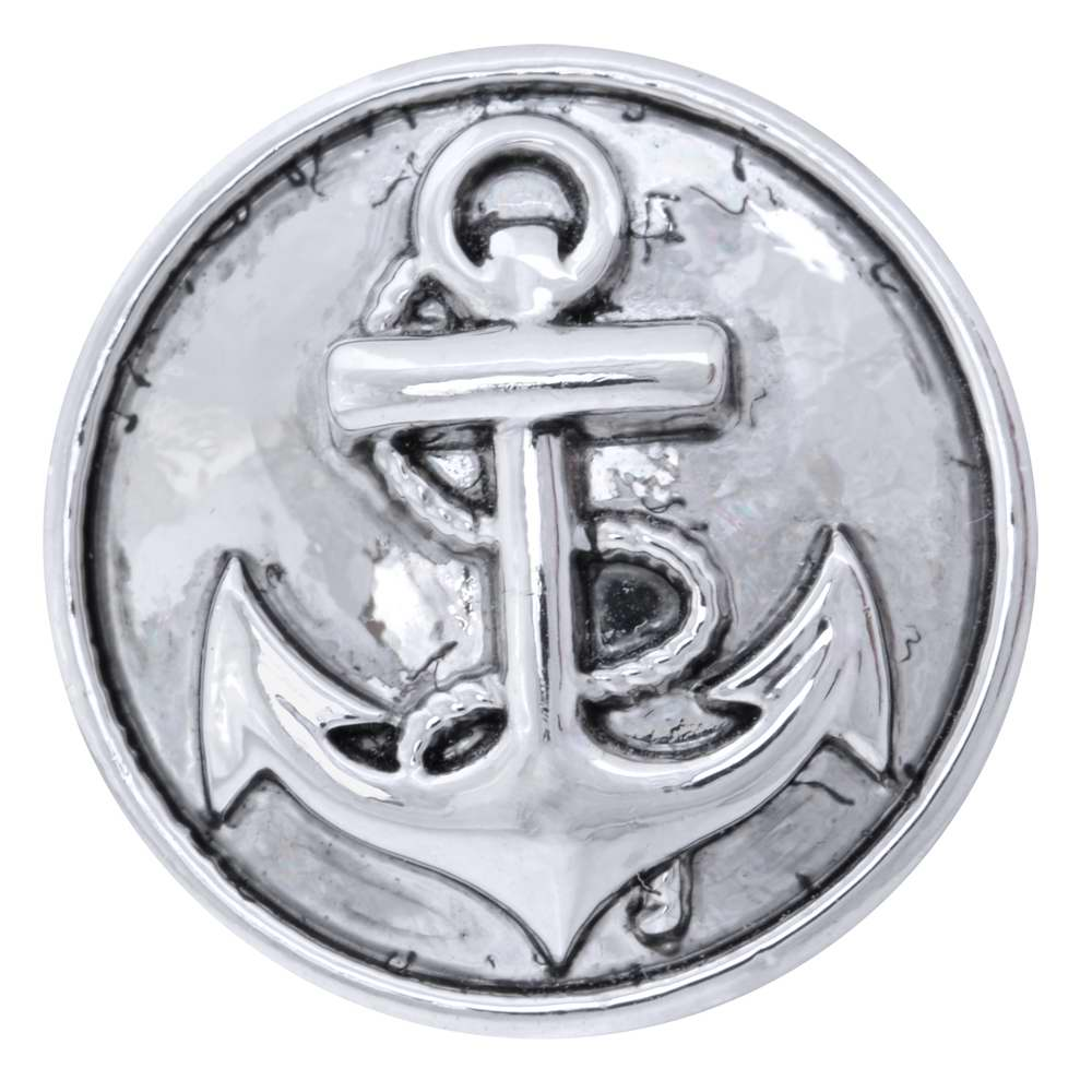 NUGZ Jewelry 73803 Charm-Nugz Snap On-Anchor, Silver
