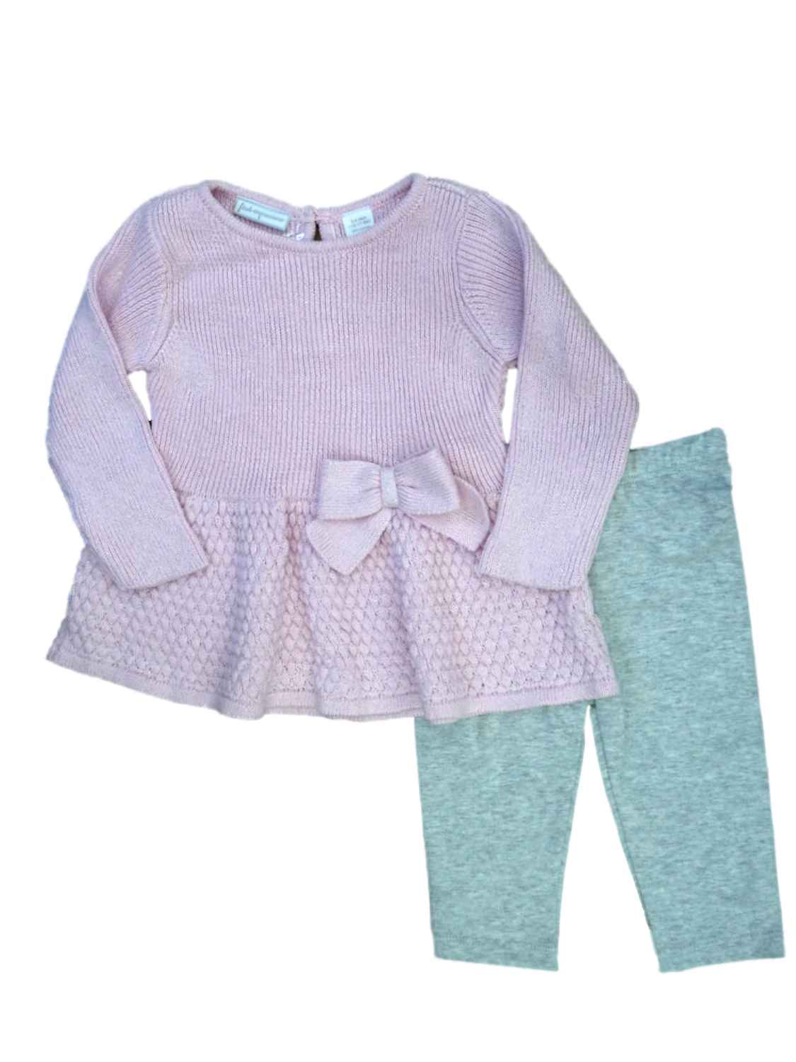First Impressions Baby Girls Long Sleeve Tunic,Primrose Pink,18 Months