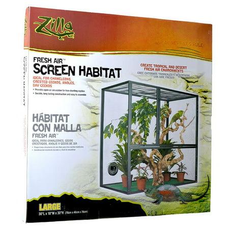 Zilla Fresh Air Screen Habitat Large - 30L x 18W x (Zilla Screen)
