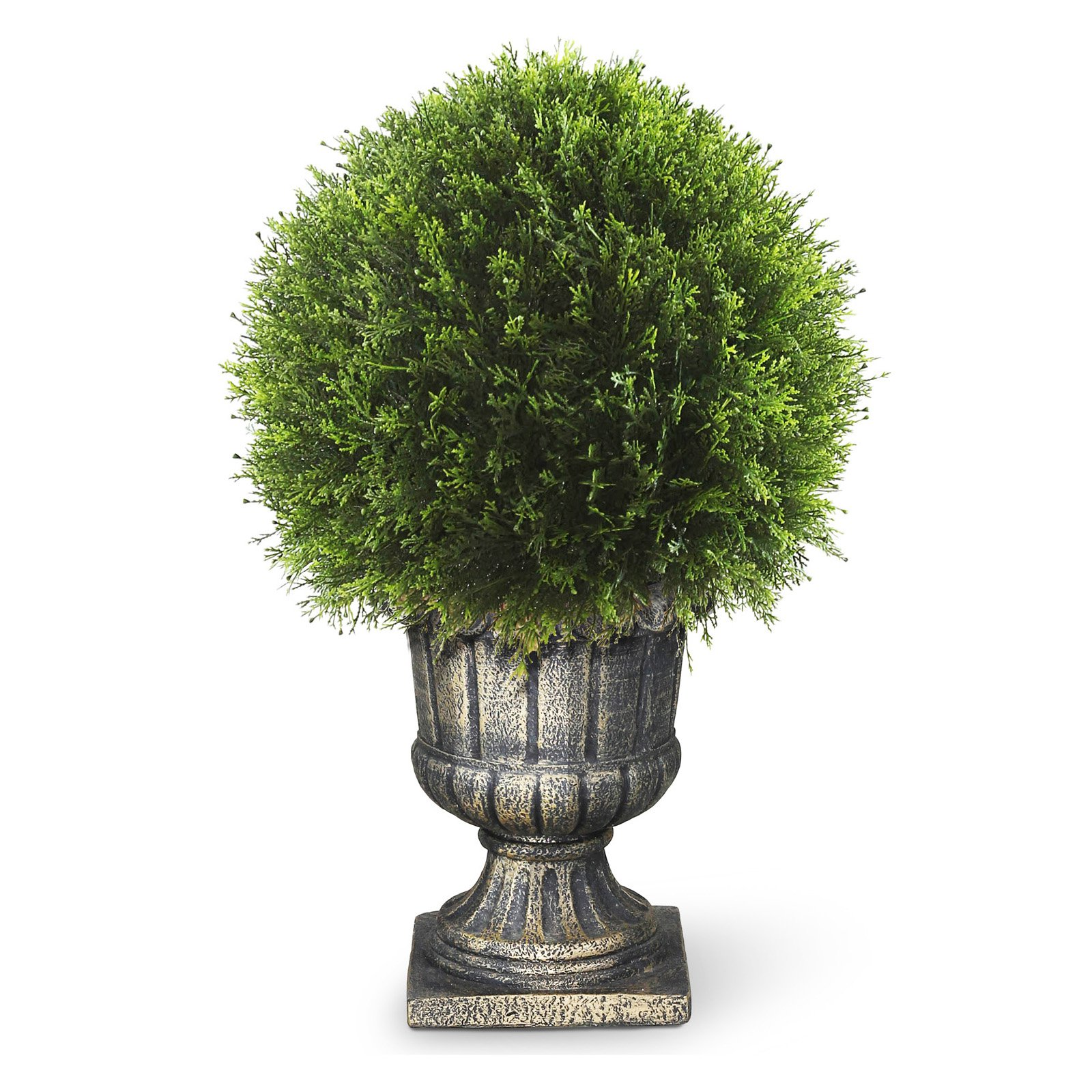 "27"" Artificial Upright Juniper Ball Topiary"