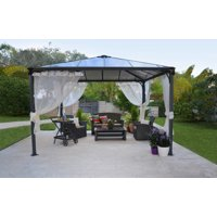 Palram Palermo Gray/Bronze Gazebo, Multiple Sizes