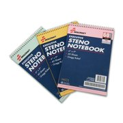 Skilcraft Gregg Style Rainbow Steno Notebook - 60 Sheet - Gregg Ruled - 3 / Pack (NSN4545702)