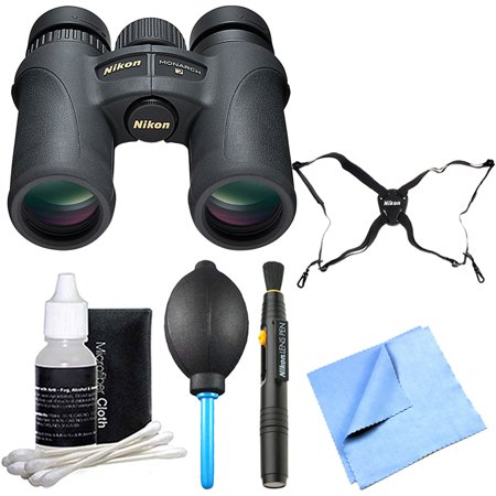 Monarch 7 8x30 Binoculars bundle with binoculars, pen cleani