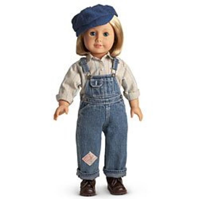 """American Girl Kit's Hobo Bib Overalls Outfit with Hat for 18"""" Doll by"""