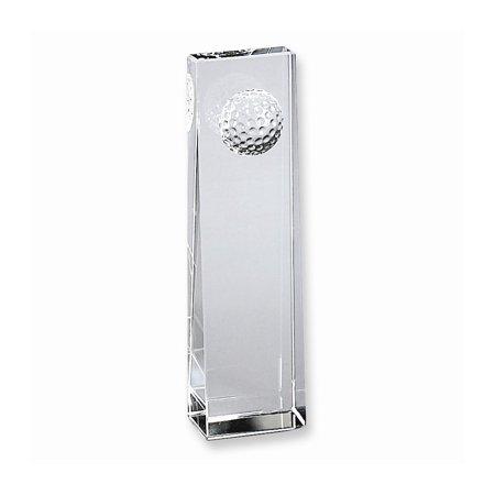 Golf Trophy Shadow Box - Optic Glass Golf Ball Trophy