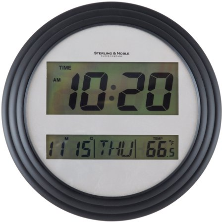 Mainstays Digital Wall Clock, Black Covert Wall Clock Camera