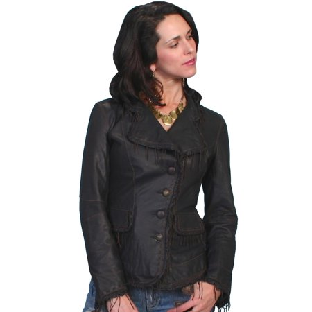 Scully Western Jacket Womens Fitted Lamb Leather Button L954 Fitted Leather Jacket