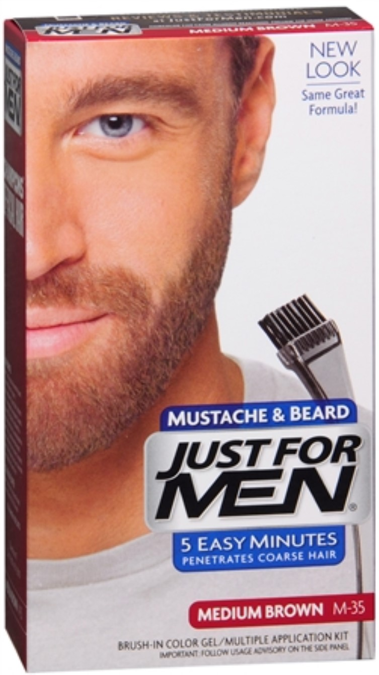 JUST FOR MEN Color Gel Mustache & Beard M-35 Medium Brown 1 Each ...