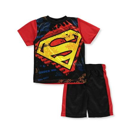 Super Man Outfit (Superman Boys' 2-Piece Shorts Set)