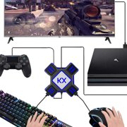 KX USB Game Controller Converter Keyboard Mouse Adapter for Switch/Xbox/PS4/PS3 - Black