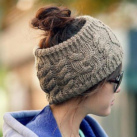Crochet Woven Headband (Women Winter Warmer Knitted Headband Stretch Crochet Fashion Hairband)