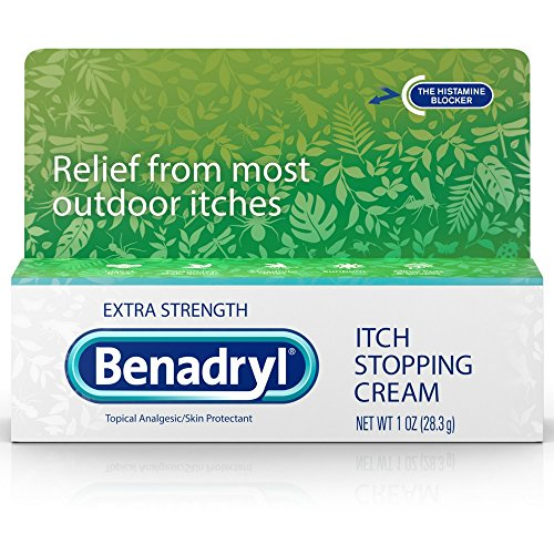 Benadryl Topical Itch Stopping Cream, Extra Strength, 1 oz (Pack of 3)