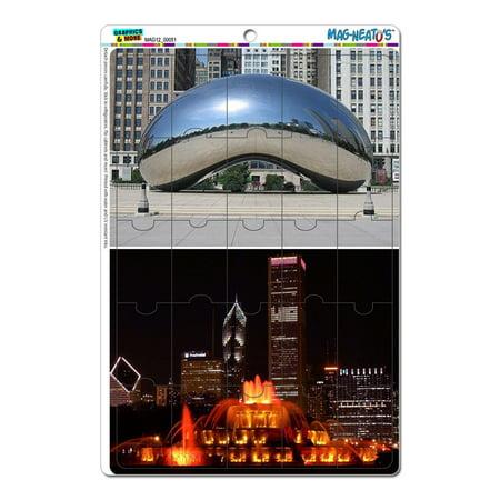 Chicago City - Bean Buckingham Fountain MAG-NEATO'S(TM) Puzzle Magnet