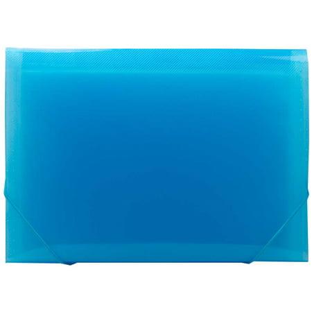 Expanding Legal Envelope - JAM Paper Accordion Folder, 13 Pocket Expanding File, Legal Size, 10 x 15, Blue, 2/Pack