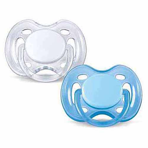 Philips Avent Orthodontic Freeflow Pacifier, 0-6 Months, 2-Pack, BPA-Free