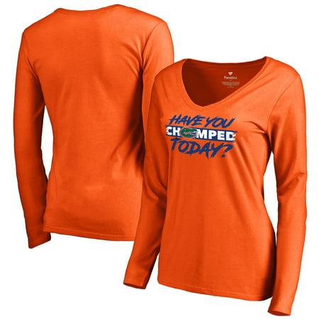 Florida Gators Fanatics Branded Women's Chomp Today V-Neck Long Sleeve T-Shirt - Orange](Gator Chomp)