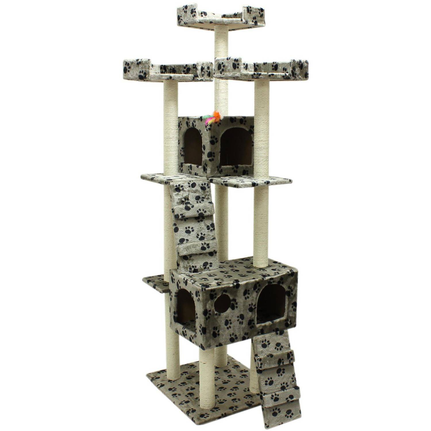 "ALEKO 73"" Cat Tree Condo Scratching Post Pet Furniture"