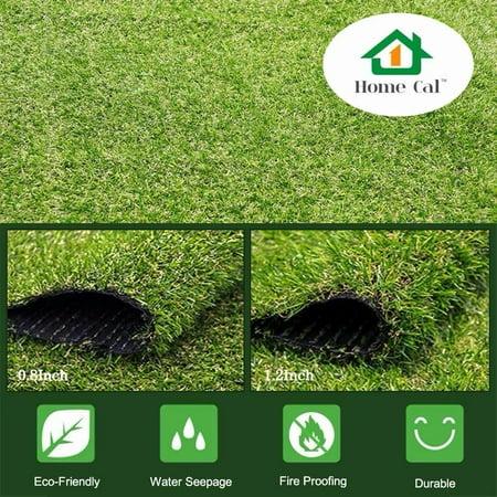 Home Cal Artificial Grass Outdoor Rug - 36