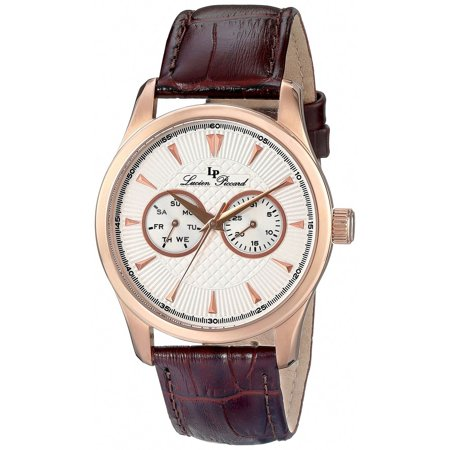 Lucien Piccard Multifunction Brown Leather Men's Watch LP-12761-RG-02S-BRW