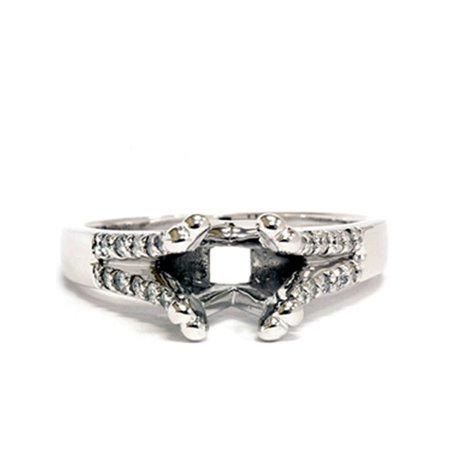 - Diamond Semi Mount Ring Split Shank Setting 14K Gold