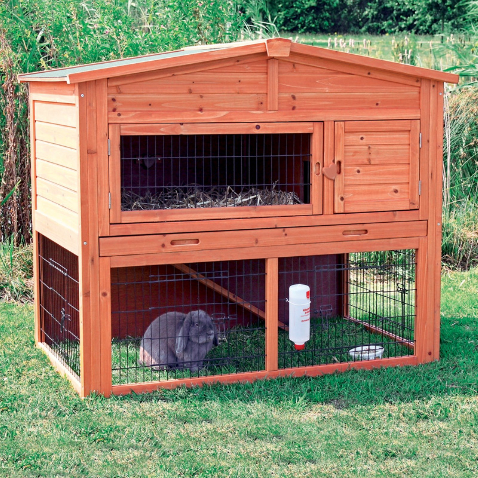 TRIXIE Rabbit Hutch with Attic - Large