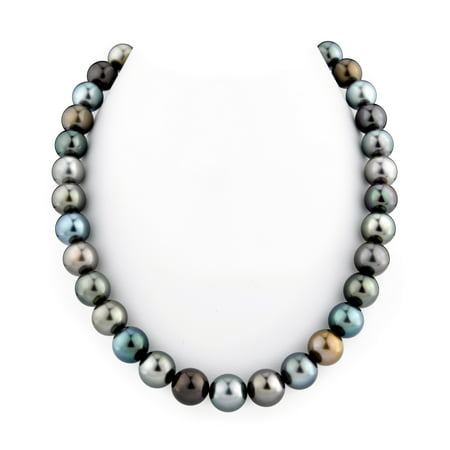 "14K Gold 11-12mm Tahitian South Sea Multicolor Cultured Pearl Necklace - AAA Quality, 18"" Length"