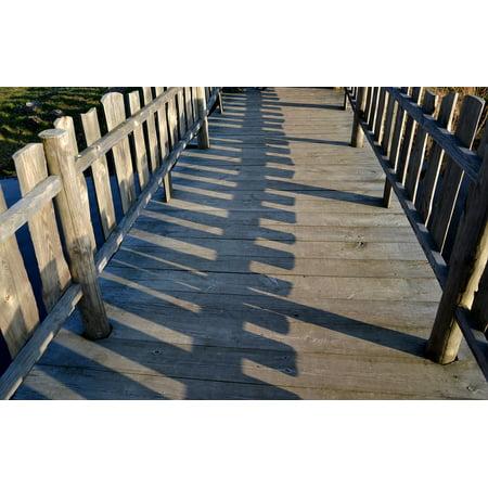Split Rail Fencing (LAMINATED POSTER Rails Fencing Gateway Bridge Hurdle The Fence Poster Print 24 x)
