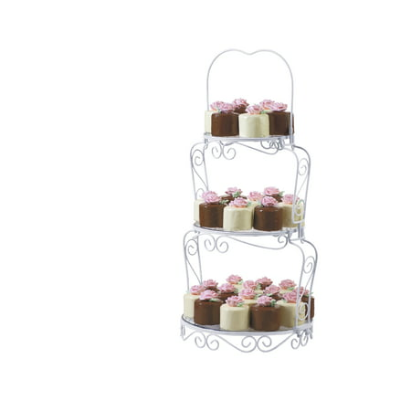 Wilton Graceful 3-Tier Cake and Cupcake Display Stand - Cupcake Display Stand