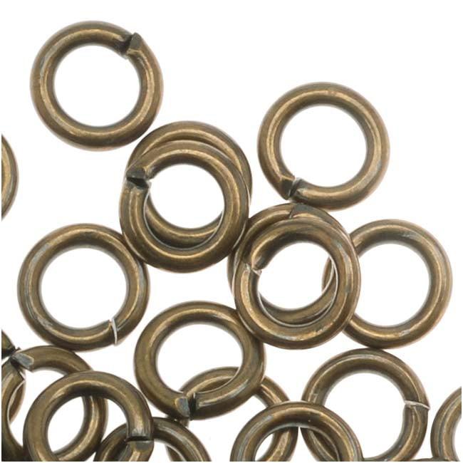 Antiqued Brass Open 5mm Jump Rings 18 Gauge (50)