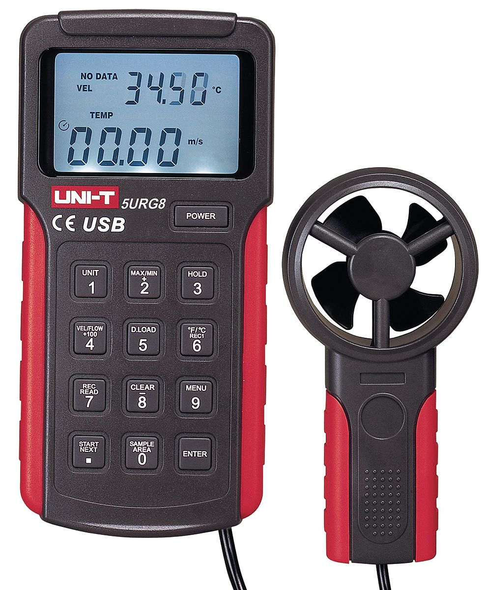 Westward Anemometer with Humidity, 393 to 5905 fpm 5URG8 by VALUE BRAND