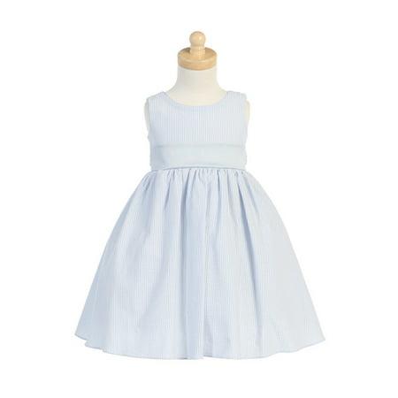 27ba4d553d9e0 Lito - Lito Light Blue Striped Seersucker Dress-18-24M - Walmart.com
