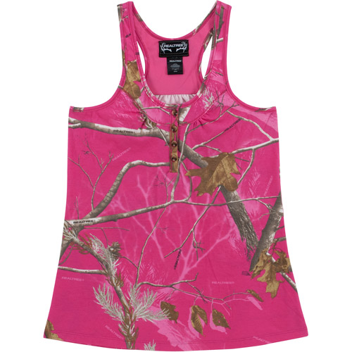 Realtree Women's AP Tank Top, AP Hot Pink