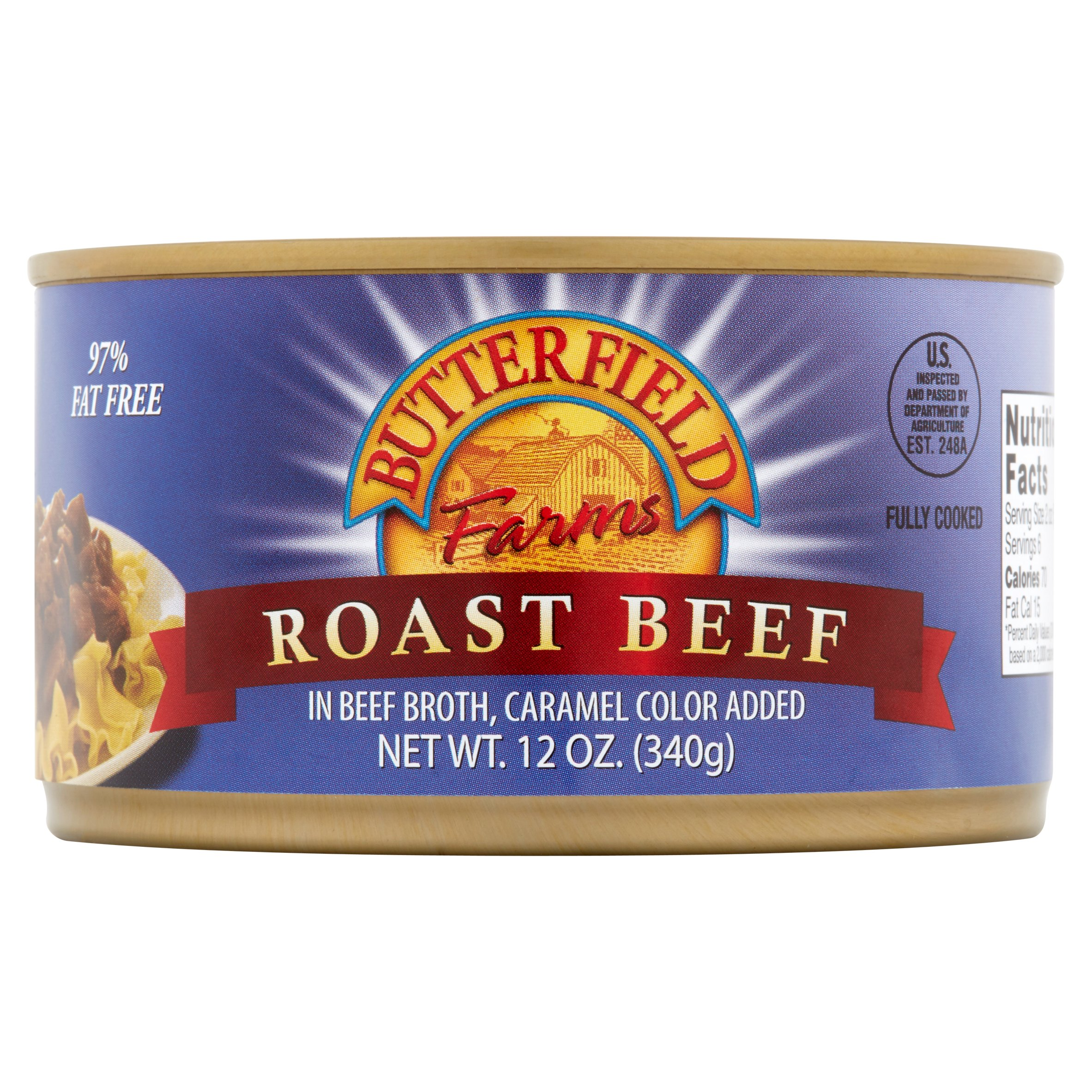 Butterfield Farms Roast Beef in Beef Broth, 12 oz by Tony Downs Foods Co.