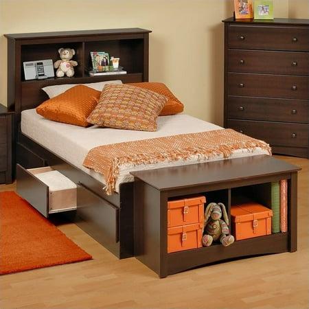 Prepac Manhattan Twin Bookcase Platform Storage Bed in (Prepac Manhattan Platform Storage)