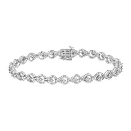 Sterling Silver 1/4ct TDW Diamond Link Bracelet (I-J, I2-I3)