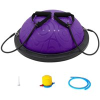 ATIVAFIT Half Ball Balance Trainer with Straps Yoga Balance Ball Anti Slip for Core Training Home Fitness Strength Exercise Workout Gym