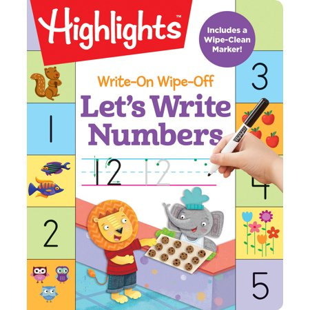 Write-On Wipe-Off Let's Write Numbers (Ir Learning)