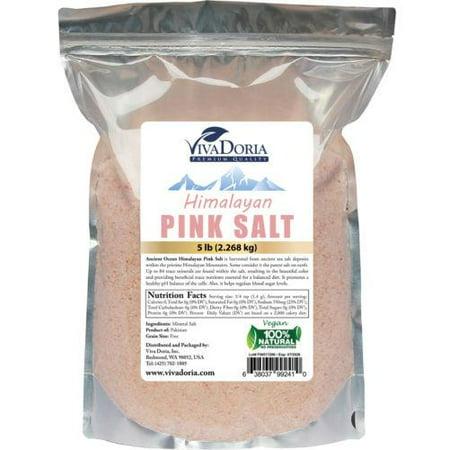 Natural Organic Himalayan Crystal Pink Salt 5 lbs - Ancient Sea Salt